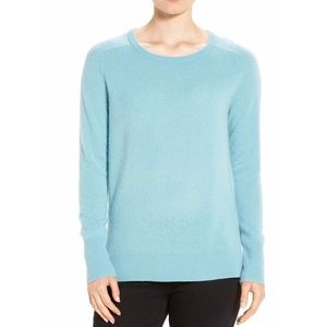 NWT Halogen Blue 100% cashmere pullover sweater